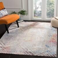 Safavieh Monray Modern Abstract Polyester Grey/ Gold Area Rug - 8' x 10'