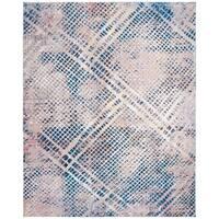 Safavieh Monray Modern Abstract Polyester Blue/ Multi Area Rug - 9' X 12'