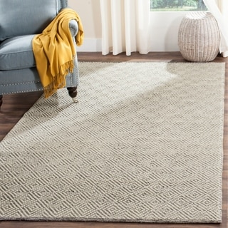Safavieh Natura Transitional Geometric Hand-Tufted Wool Ivory/ Light Grey Area Rug (10' x 14')