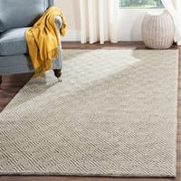 Safavieh Natura Transitional Geometric Hand-Tufted Wool Ivory/ Light Grey Area Rug - 10' x 14'