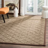 Safavieh Natural Fiber Contemporary Geometric Jute Natural/ Brown Area Rug - 8' x 10'
