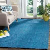 Safavieh Natural Fiber Coastal Geometric Hand-Woven Jute Blue Area Rug - 9' x 12'