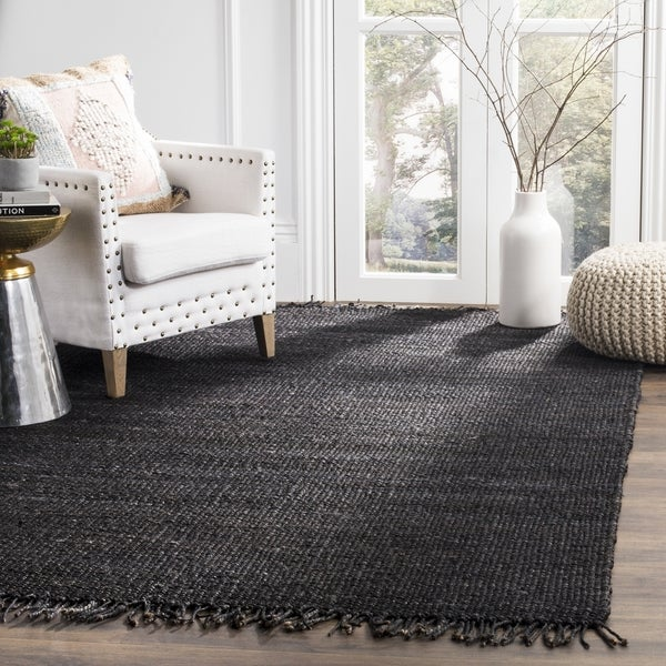 Safavieh Natural Fiber Coastal Hand Woven Jute Black Area