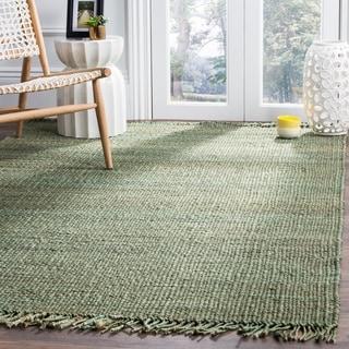 Safavieh Natural Fiber Coastal Hand-woven Jute Green Area Rug (8' x 10')