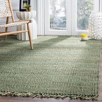 Safavieh Natural Fiber Coastal Hand-woven Jute Green Area Rug - 8' x 10'