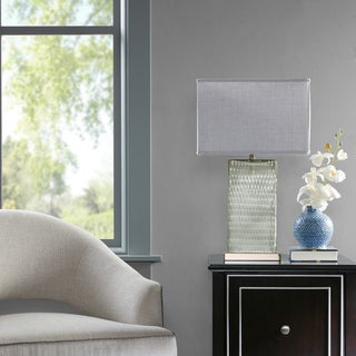 Madison Park Signature Honeycomb Grey Table Lamp