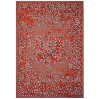 Safavieh Palazzo Transitional Oriental Orange/ Light Grey Area Rug (8' x 11')