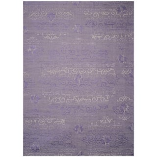 Safavieh Palazzo Transitional Oriental Purple/ Light Grey Area Rug (8' x 11')