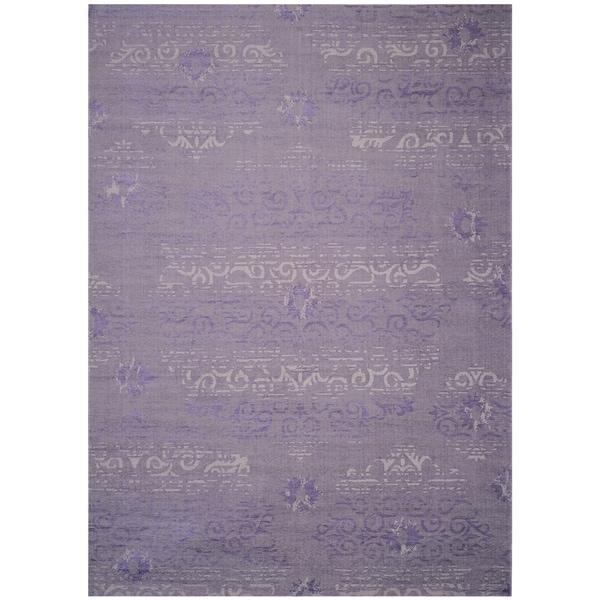 Safavieh palazzo light grey anthracite purple chenille for Home decorators chenille rug