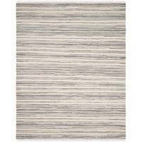Safavieh Rag Rug Transitional Stripe Hand-Woven Cotton Ivory/ Grey Area Rug - 10' x 14'