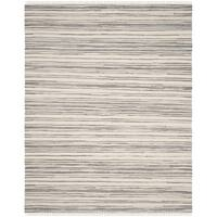 Safavieh Rag Rug Transitional Stripe Hand-Woven Cotton Ivory/ Grey Area Rug - 9' x 12'