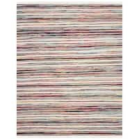 Safavieh Rag Rug Transitional Stripe Hand-Woven Cotton Ivory/ Multi Area Rug - 10' x 14'