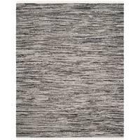 Safavieh Rag Rug Transitional Stripe Hand-Woven Cotton Grey Area Rug - 10' x 14'