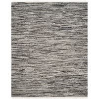 Safavieh Rag Rug Transitional Stripe Hand-Woven Cotton Grey Area Rug - 9' x 12'