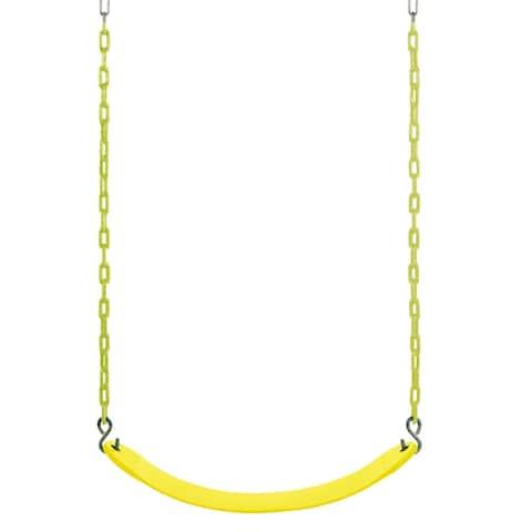 Swingan Yellow Belt Swing for Vinyl Coated Chain