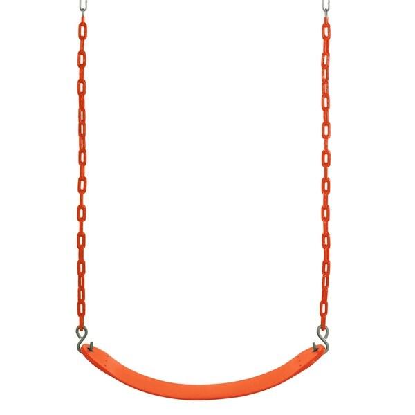 Swingan Orange Belt Swing with Vinyl Coated Chain