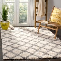 Safavieh Dallas Shag Geometric Ivory/ Grey Area Rug - 8' x 10'