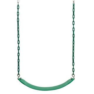 Swingan Green Belt Swing with Vinyl Coated Chain