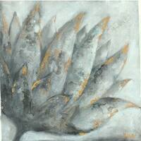 Irina K. 'Lotus II' Gel Brush Finish 24-inch x 24-inch Canvas Art