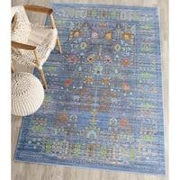 Safavieh Valencia Vintage Oriental Polyester Blue/ Multi Area Rug - 10' x 14'