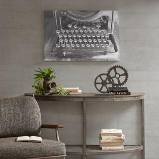 INK+IVY Vintage Typewriter Black/ White Gel Coated Canvas