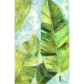 """Irina K. 'Refreshing Green IV' Gel Brush Finish Canvas Art (24"""" x 36"""")"""