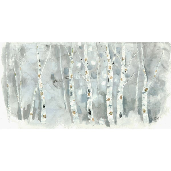 'Birch Tree' Irina K. Canvas 30-inch x 60-inch Gallery-wrapped Gel Brush-finished Art