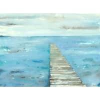 Irina K. 'Blue Dock' Canvas Print 30-inch x 40-inch Canvas Art