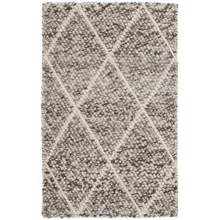 Safavieh Natura Transitional Geometric Hand-Woven Wool Ivory/ Stone Area Rug (2' x 3')