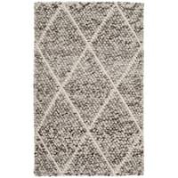 Safavieh Natura Transitional Geometric Hand-Woven Wool Ivory/ Stone Area Rug - 2' X 3'
