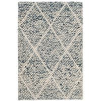 Safavieh Natura Transitional Geometric Hand-Woven Wool Ivory/ Blue Area Rug - 2' x 3'