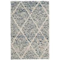 Safavieh Natura Transitional Geometric Hand-Woven Wool Ivory/ Blue Area Rug (2' x 3')