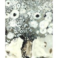 Irina K. 'Grey Flowers' Canvas Print 30-inch x 40-inch Canvas Art