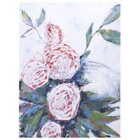Irina K. 'Pink Florals' Gel Brush Finish 30 x 40 Canvas Art