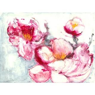 Hobbitholeco Irina K. 'Floral I' Gel Brush Canvas Art