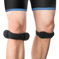 Fully Adjustable Silicone Patella Knee Strap (Pack of 2)