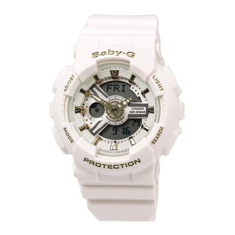 Casio Women's 'Baby-G' Analog-Digital White Resin Watch