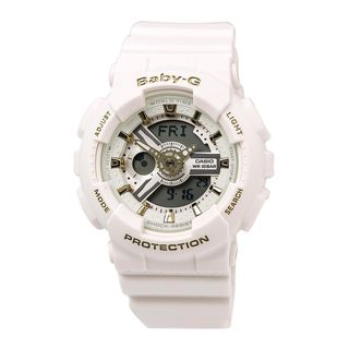 Casio Women's BA110GA-7A1 'Baby-G' Analog-Digital White Resin Watch