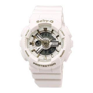 Casio Women's BA110GA-7A1 'Baby-G' Analog-Digital White Resin Watch https://ak1.ostkcdn.com/images/products/16411241/P22759323.jpg?impolicy=medium
