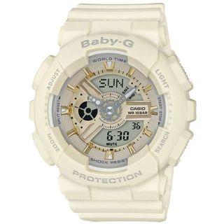Casio Women's BA110GA-7A2 'Baby-G' Analog-Digital White Resin Watch