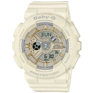 Casio Women's BA110GA-7A2 'Baby-G' Analog-Digital White Resin Watch