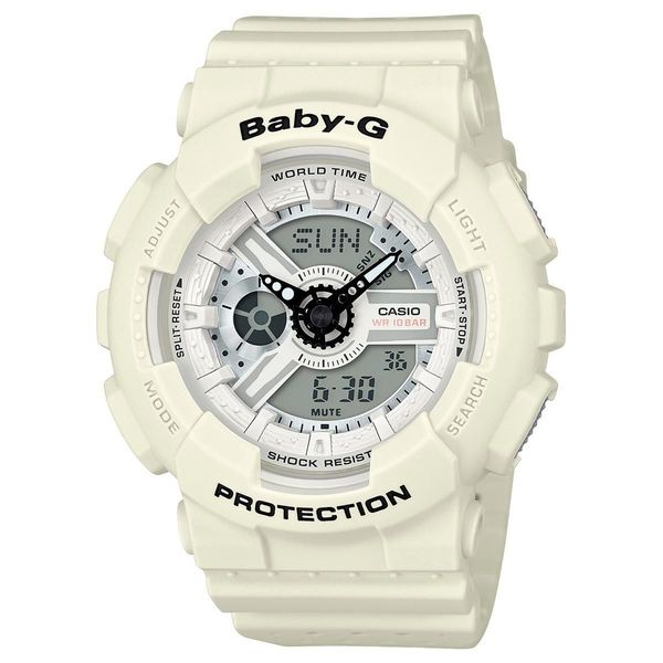 Casio Women's BA110PP-7A 'Baby-G' Analog-Digital White Resin Watch
