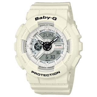 Casio Women's BA110PP-7A 'Baby-G' Analog-Digital White Resin Watch https://ak1.ostkcdn.com/images/products/16411261/P22759325.jpg?impolicy=medium