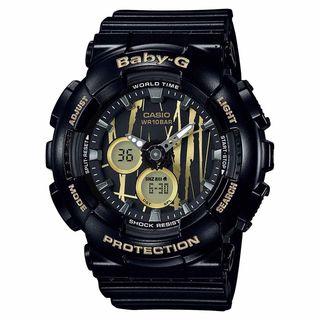 Casio Women's BA120SP-1A 'Baby-G' Analog-Digital Black Resin Watch