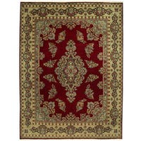 Handmade Herat Oriental Persian Tribal Kerman Wool Rug - 9'10 x 13'2 (Iran)