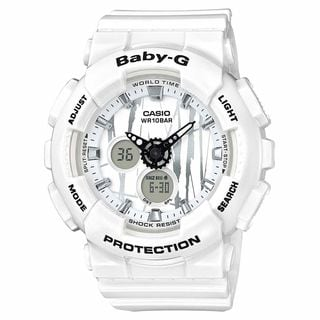 Casio Women's BA120SP-7A 'Baby-G' Analog-Digital White Resin Watch