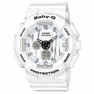 Casio Women's BA120SP-7A 'Baby-G' Analog-Digital White Resin Watch https://ak1.ostkcdn.com/images/products/16411283/P22759327.jpg?_ostk_perf_=percv&impolicy=medium