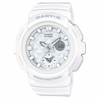 Casio Women's BGA195-7A 'Baby-G' Analog-Digital White Resin Watch
