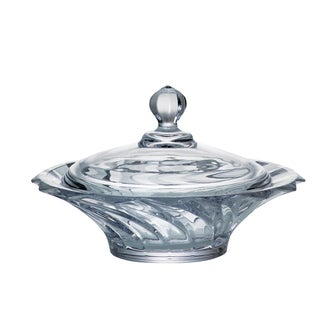 Red Vanilla Picadelli Clear Crystal Covered Dish (20 cm.)