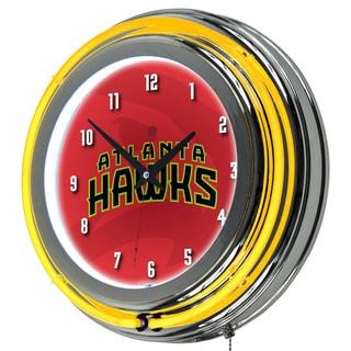 NBA Chrome Double Rung Neon Clock - Fade
